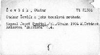 Otakar Ševčík a jeho houslová methoda