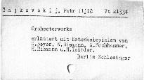 Peter Tschaikowsky's Orchesterwerke