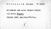 Offenbach und seine Wiener Schule