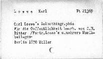 Carl Loewe's Selbstbiographie