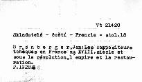Les compositeurs tchéques en France au 18. siecle, et sous la révolution, l'empire et la restauration