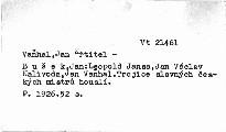Leopold Jansa, Jan Václav Kalivoda, Jan Vaňhal