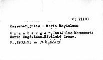 Jules Massenet: Marie Magdalena