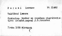 Lorenzo Perosi - Vzkříšení Lazara