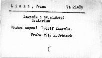 F. Liszt: Legenda o sv. Alžbětě