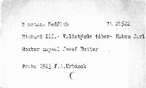 Smetana B: Richard III - Valdštýnův tábor