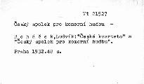České kvarteto a Český spolek pro komorní hudbu
