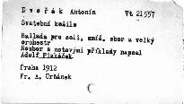 Antonín Dvořák: Svatební košile