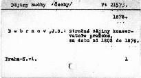 Stručné dějiny konservatoře pražské