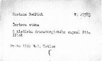Smetanova Čertova stěna