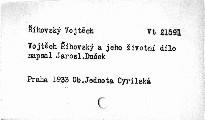 Vojtěch Říhovský a jeho životní dílo