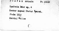 Antonín Dvořák: Symfonie B dur op. 4