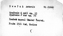 Antonín Dvořák: Symfonie d moll op. 13