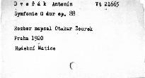 Antonín Dvořák: Symfonie G dur op. 88