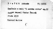 Antonín Dvořák: Symfonie e moll op. 95 Z nového světa