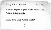 Richard Wagner a jeho hudba dramatická