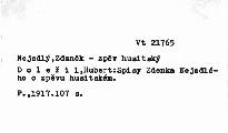 Spisy Zdenka Nejedlého o zpěvu husitském