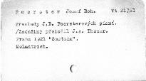 Překlady J. B. Foersterových písní /z němčiny/