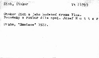 Otakar Zich a jeho hudební drama Vina