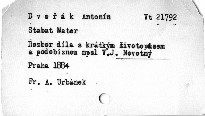 "Dvořákovo ""Stabat mater"""