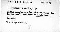 Dvořák, Antonín: 2. Symphonie D moll op. 70