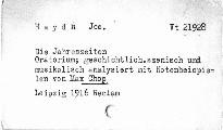 Josef Haydn: Die Jahrdszeiten, Oratorium