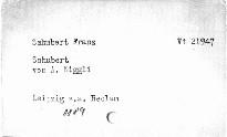 Schubert von A.Niggli