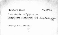 Franz Schuberts Symphonien