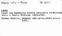 Deset let Hudebního odboru Okresního osvětového sboru v Hradci Králové