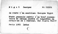 La route d'un musicien: Georges Migot