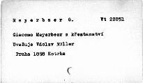 Giacommo Meyerbeer a křesťanství