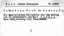 Sebastian Bach in Arnstadt