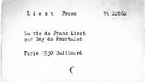 La vie des Franz Liszt