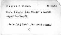 Richard Wagner jako filosof a básník