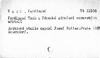 Ferdinand Vach a Pěvecké sdružení moravských učitelů