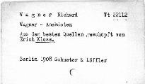 Wagner Anekdoten