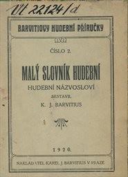 Malý slovník hudební
