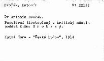 Dr. Antonín Dvořák