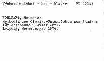 Methodik des Clavier-Unterrichts