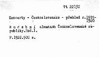 Hudební almanach 1922 Československé republiky                         (Ročník I)