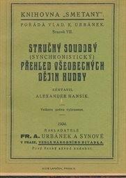 Stručný soudobý (synchronistický) přehled všeobecných dějin hudby