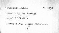 """""""Petruška"""" Ig. Strawinskogo"""