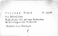 R. Straus: Ein Heldenleben