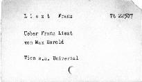 Ueber Franz Liszt