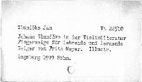 Johann Sluničko in der Violinliteratur