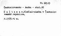 Hudba v československé republice