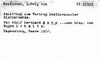 Anleitung zum Vortrag Beethovenscher Klavierwerke