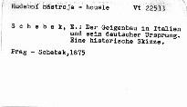 Der Geigenbau in Italien und sein deutscher Ursprung