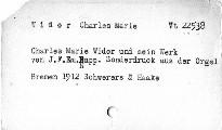 Charles Marie Widor und sein Werk