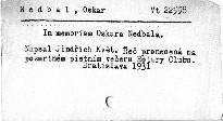 In memoriam Oskara Nedbala